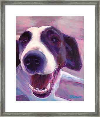 Hi There Doggie Framed Print by Robie Benve