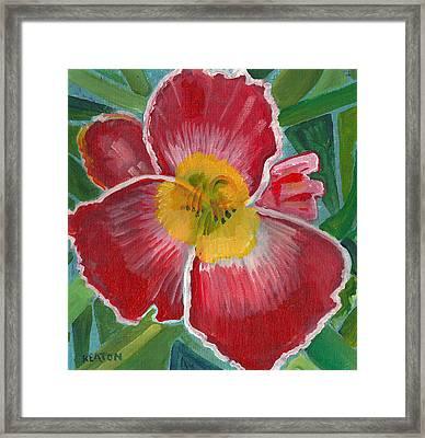 Hibiscus 3 Framed Print by John Keaton