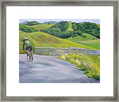 Hicks Valley Bike Ride Framed Print by Colleen Proppe