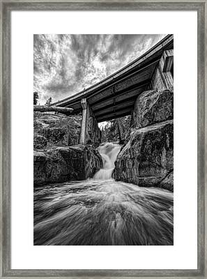 Hidden Falls Framed Print by Brian Fairleigh