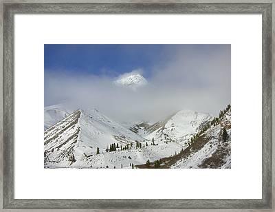 Hidden In Fog Framed Print by Mike  Dawson