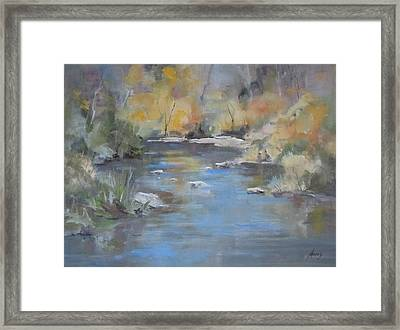 Hidden River Framed Print by Elaine Monnig