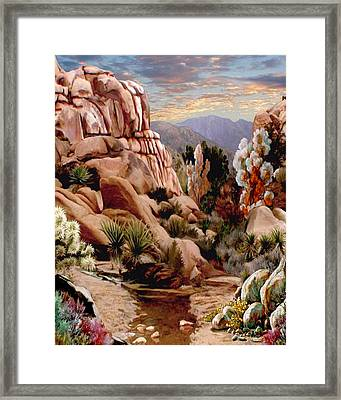 Hidden Valley Trail Framed Print by Ron Chambers