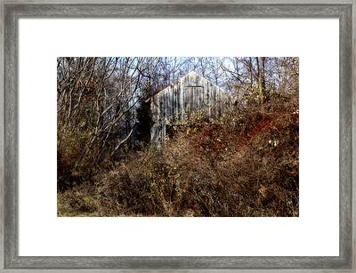 Hide A Barn Framed Print by Ross Powell