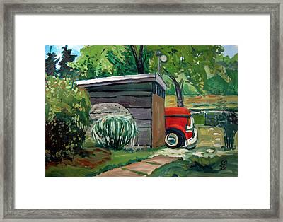 Hiding From The Junkyard Framed Print by Charlie Spear
