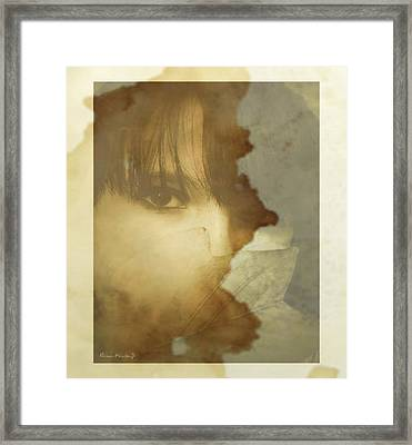 Hiding Framed Print by Gina Lee Manley