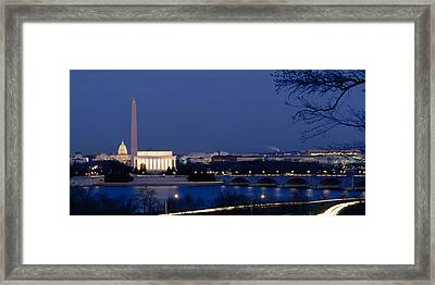 High Angle View Of Government Buildings Framed Print by Panoramic Images