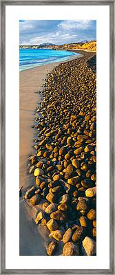 High Angle View Of Pebbles Framed Print by Panoramic Images