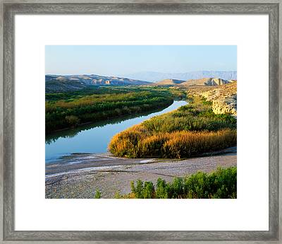 High Angle View Of Rio Grande Flood Framed Print by Panoramic Images