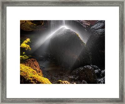 High Desert Cascade Framed Print by Leland D Howard