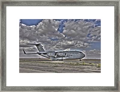 High Dynamic Range Image Of A C-17 Framed Print by Terry Moore