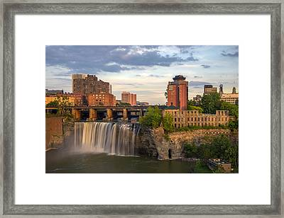 High Falls District Rochester Framed Print by Mark Papke