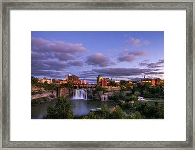 High Falls Dusk Framed Print by Mark Papke