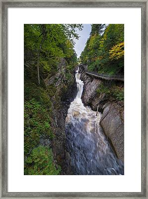 High Falls Gorge Adirondacks Framed Print by Mark Papke