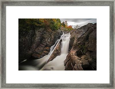 High Falls Gorge Wilmington Ny New York First Waterfall Framed Print by Toby McGuire