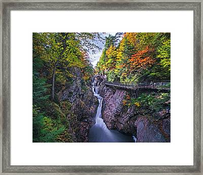 High Falls Gorge Wilmington Ny New York Framed Print by Toby McGuire
