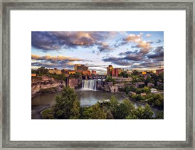 High Falls Rochester Framed Print by Mark Papke