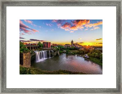 High Falls Rochester Ny Framed Print by Mark Papke