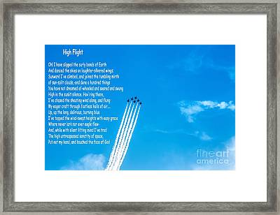 High Flight Framed Print by Jon Burch Photography