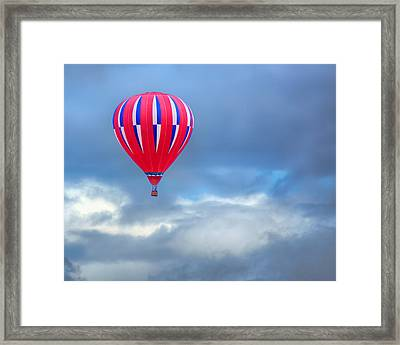 High In The Sky - Hot Air Balloon Framed Print by Nikolyn McDonald