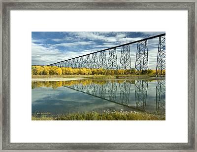 High Level Bridge In Lethbridge Framed Print by Tom Buchanan
