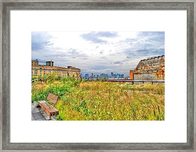 High Line On The Hudson Framed Print by Randy Aveille