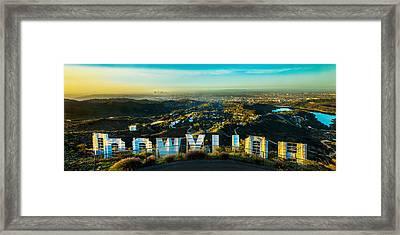 High On Hollywood Framed Print by Az Jackson