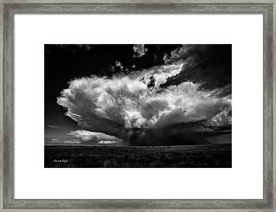 High Plains Storm Framed Print by Karen Slagle