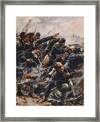 High Tide At Gettysburg Framed Print by American School