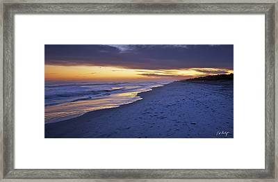 High Tide In Fading Light Framed Print by Phill Doherty