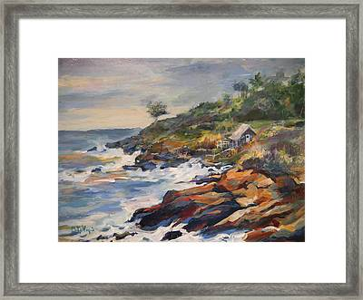 High Tide Framed Print by Pati Maguire