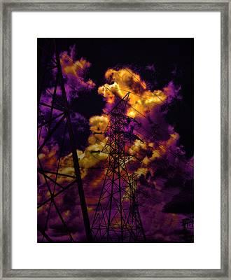 High Voltage Framed Print by Marcie  Adams