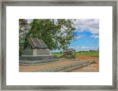 High Water Mark Of The Rebellion Monument Gettysburg Framed Print by Randy Steele