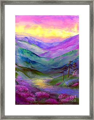 Highland Light Framed Print by Jane Small
