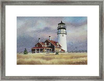 Highland Light View Framed Print by Karol Wyckoff