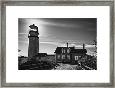 Highland Lighthouse Bw Framed Print by Joan Carroll