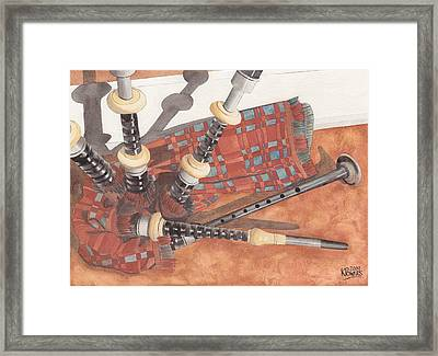 Highland Pipes II Framed Print by Ken Powers