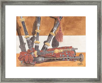 Highland Pipes Framed Print by Ken Powers