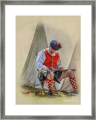 Highlander Camp Life Framed Print by Randy Steele