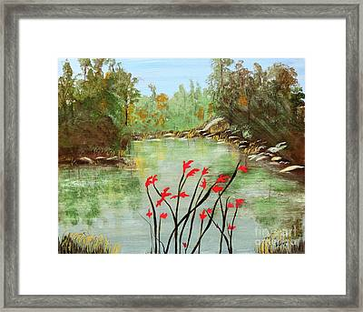 Highlands Lake Framed Print by Sharon Eng