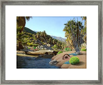 Hiking The Canyons Framed Print by Snake Jagger