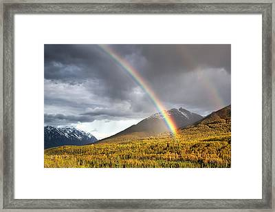 Hiland Mountain Framed Print by Ed Boudreau