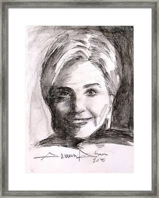 Hillary Clinton Framed Print by Salman Ameer