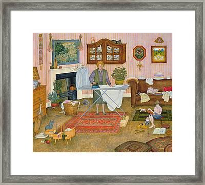 Hilda Nekudas Ironing Day Framed Print by Ditz