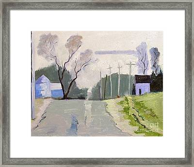 Hill Tops And Drops Framed Print by Charlie Spear