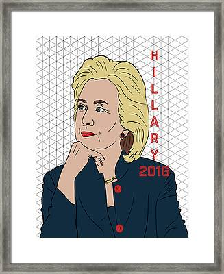 Hillary Clinton 2016 Framed Print by Nicole Wilson