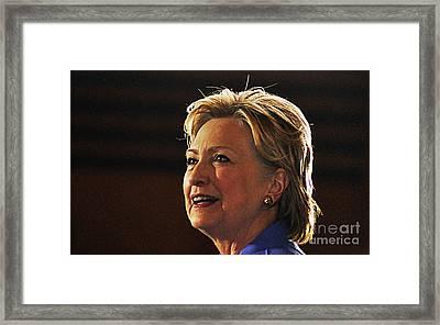 Hillary Clinton Framed Print by Kelly Sullivan