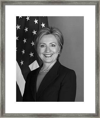 Hillary Clinton Framed Print by War Is Hell Store