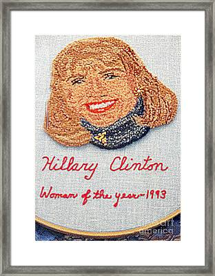 Hillary Clinton Woman Of The Year Framed Print by Randall Weidner