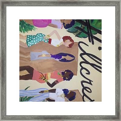 Hillcrest Divas. The It Girls Framed Print by Autoya Vance-Liggins